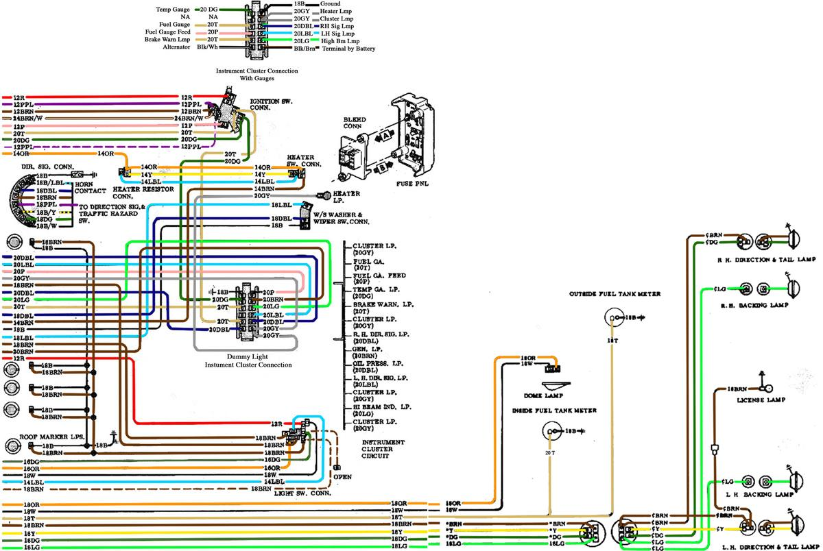 1967 Chevelle Blinker Tach Wiring Diagram Reveolution Of 67 72 Chevy Rh Outintheshop Com Harness Diagrams